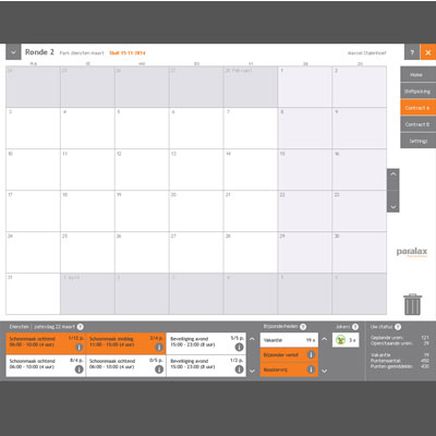 User Interface Design Planningssysteem